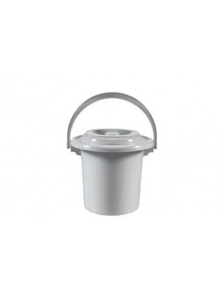 Toiletemmer lichtgrijs 5l
