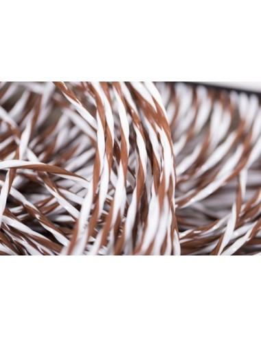 Stripgordijn mercurio bruin/ wit 100 x 220 cm