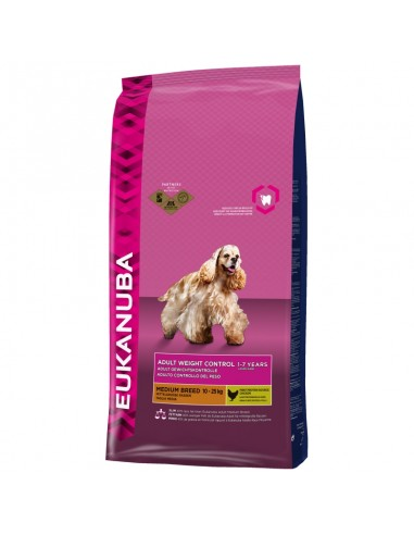 Euka adult weight control medium breed 2.5kg