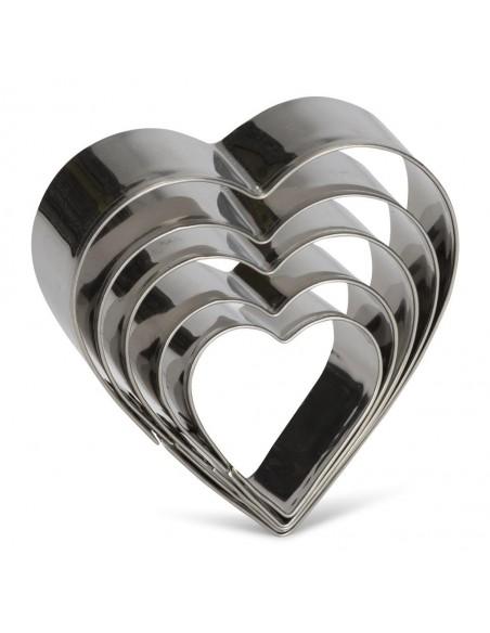 Uitsteekvormen hart 3st metaal