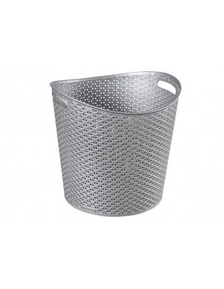 Wasmand MY STYLE zilver rond 30l