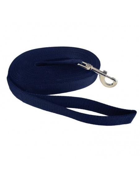 Longeerlijn met draaikarabijn blauw 8m