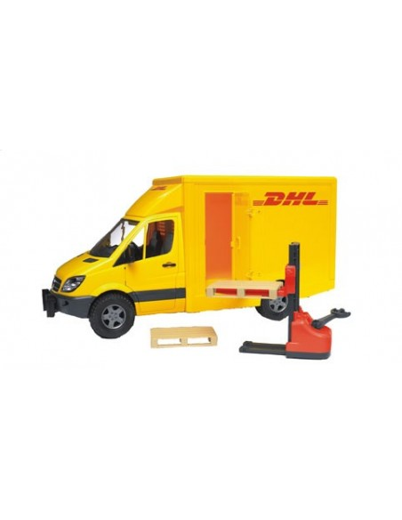 MB Sprinter met palletwagen  en 2 pallets 1:16