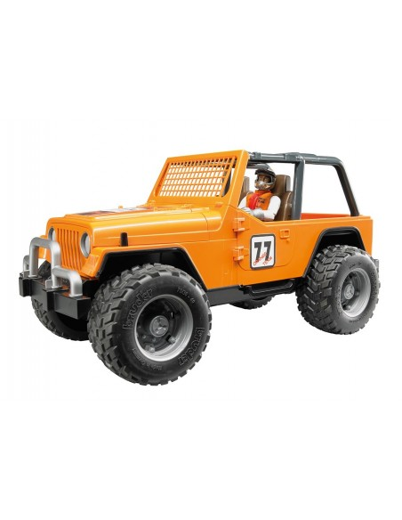 Jeep Cross Country racer oranje met chauffeur 1:16