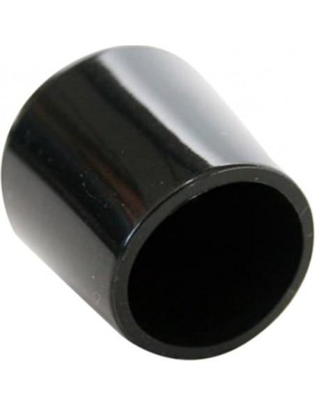 Meubeldoppen zwart PVC (4st) 22mm