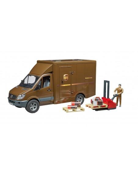 MB Sprinter UPS met bestuurder en accessoires 1:16