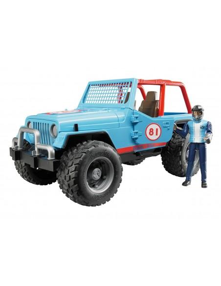 Jeep Cross Country racer blauw met chauffeur 1:16