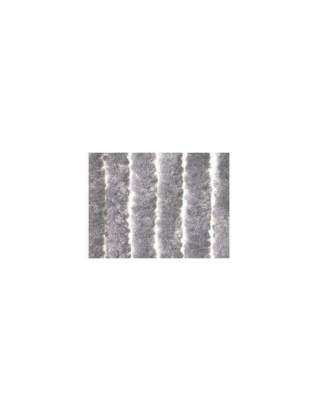Stripgordijn fluweel grijs 100 x 220 cm