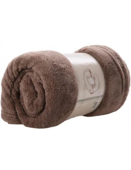 Fleece plaid bruin 150x200cm