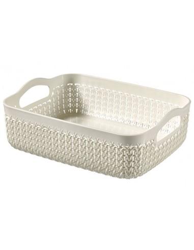 Knit tray vierkant 2.8l oasis white