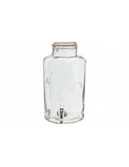 Glazen dispenser met kraan 8.5l