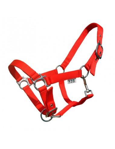 Halster nylon pony rood